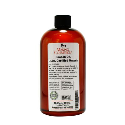 Baobab Oil, USDA Certified Organic